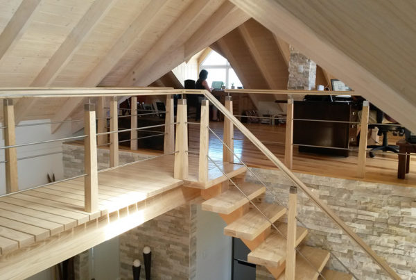 Timber Construction Indoor Stairs and Balustrade 1