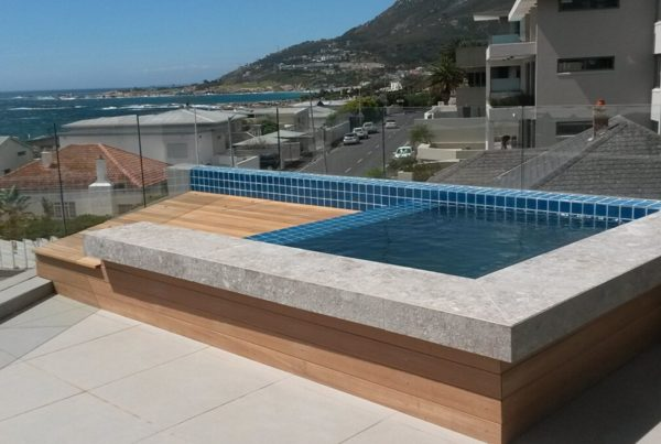 timber decking feature